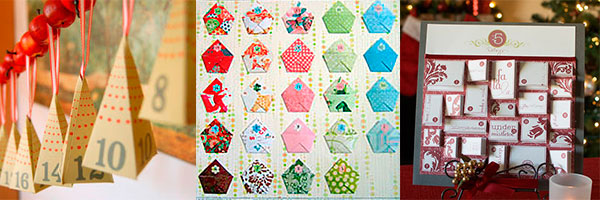 3 адвент календаря с конвертами из картона