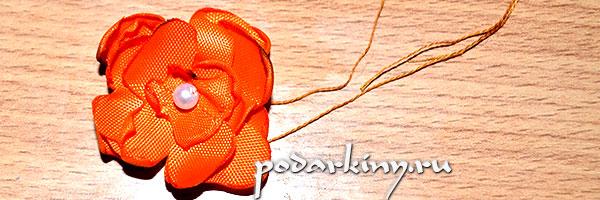 Готовый цветок из ткани