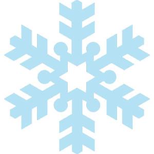 шаблон для снежинки в виде контура