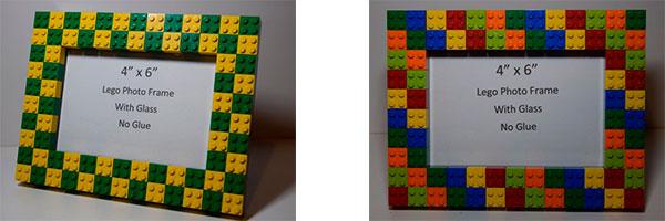 Украшение рамок с помощью деталей конструктора