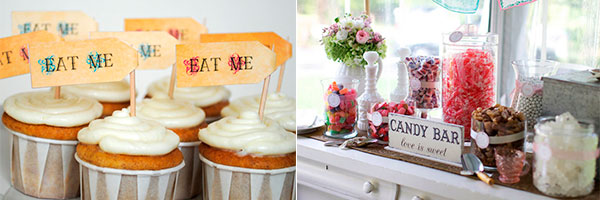 Candy bar в романтическом стиле