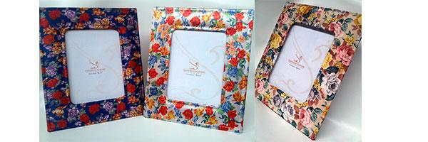 Декор рамок с помощью ткани