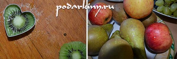 Нарезаем фрукты формочками