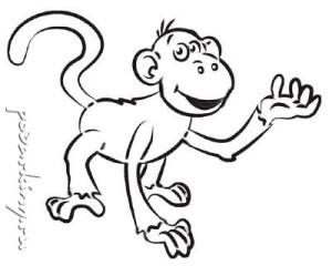 Трафарет обезьянка для вырезания