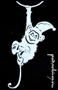Вытынанка обезьянки