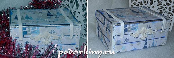 Шкатулка чемоданчик из коробки из-под обуви