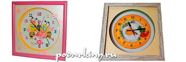 Часы из вышивки