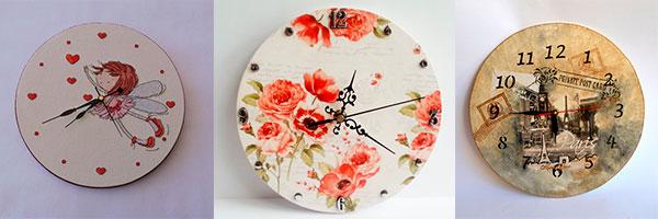 Изготовление своими руками настенных часов