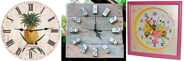 Настенные часы из подручных материалов своими руками