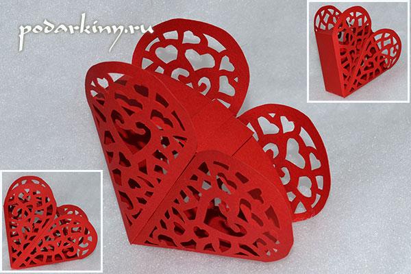 Ажурнаое сердечко-валентинка