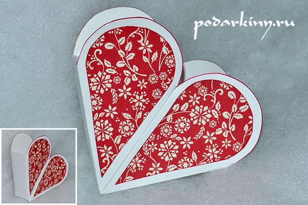 Декор валентинки скрапбумагой