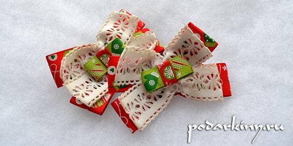Резинки из лент своими руками к новому году