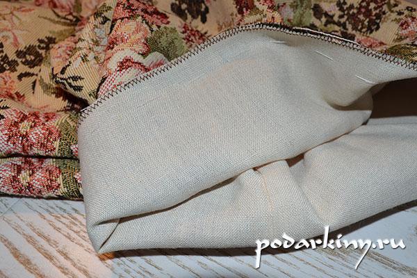 Двойной мешок из гобелена и подкладки