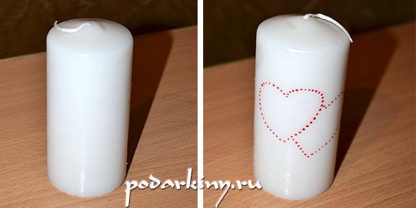 Декор свечей маркерами