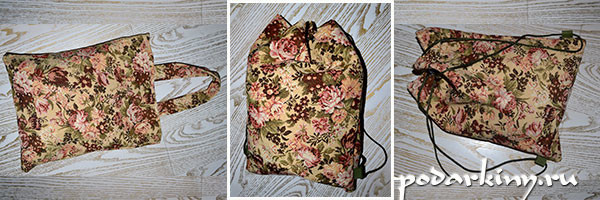 Сумка и рюкзак из гобелена своими руками