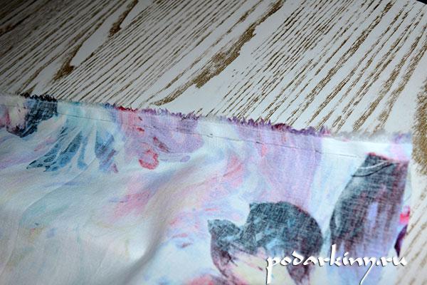 Сшиваем ткань по всей длине