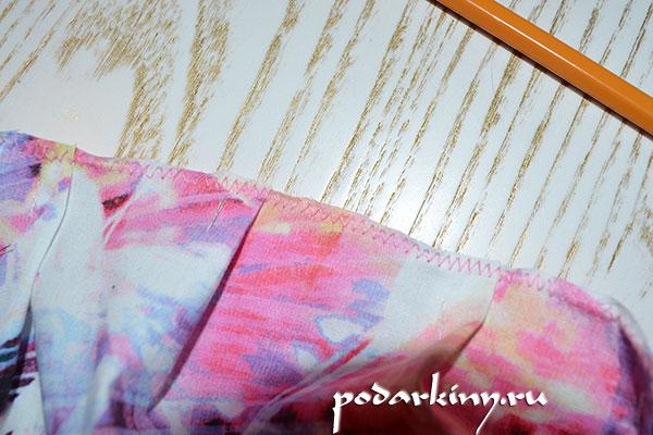 Обработка верхнего края ткани зигзагом