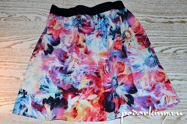 Готовая юбка на широкой резинке