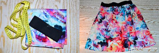 Мастер-класс по пошиву летней юбки на широкой резинке