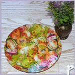 Украшаем тарелку для куличей с помощью салфеток в технике декупажа