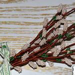 Верба в технике бисерной флористики: плетем своими руками