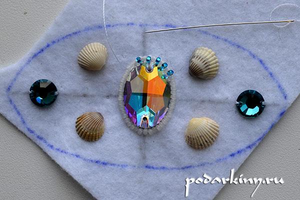 Оплетаю второй ряд вокруг кристалла