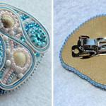 Морская заколка своими руками: бисер, бусины, кристаллы и сутажная лента