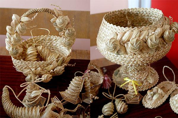 Поделки из плетеной соломы