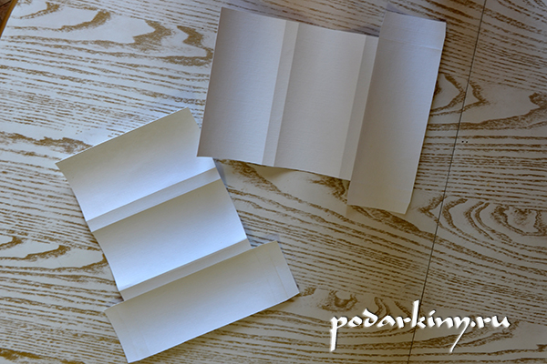 Заготовки из белого картона для будущих шоколадниц