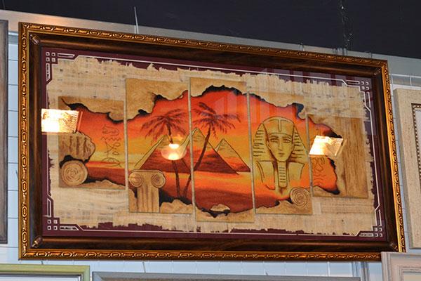 Вышивка в виде египетского папируса, схема Натальи Ореховой