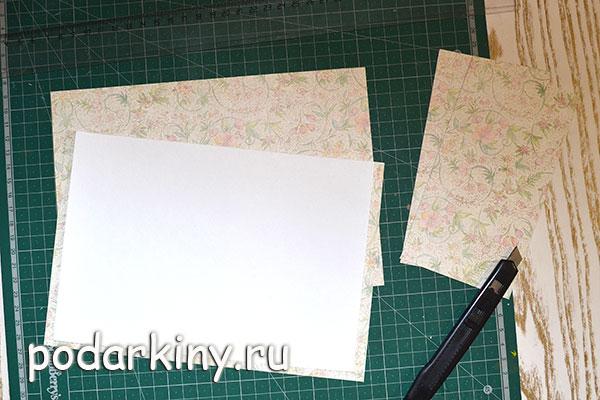 Заготовки для страничек из акварельной бумаги
