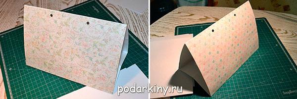 Склеиваю конструкцию в треугольник
