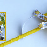 Волшебная палочка из фетра для маленьких принцесс